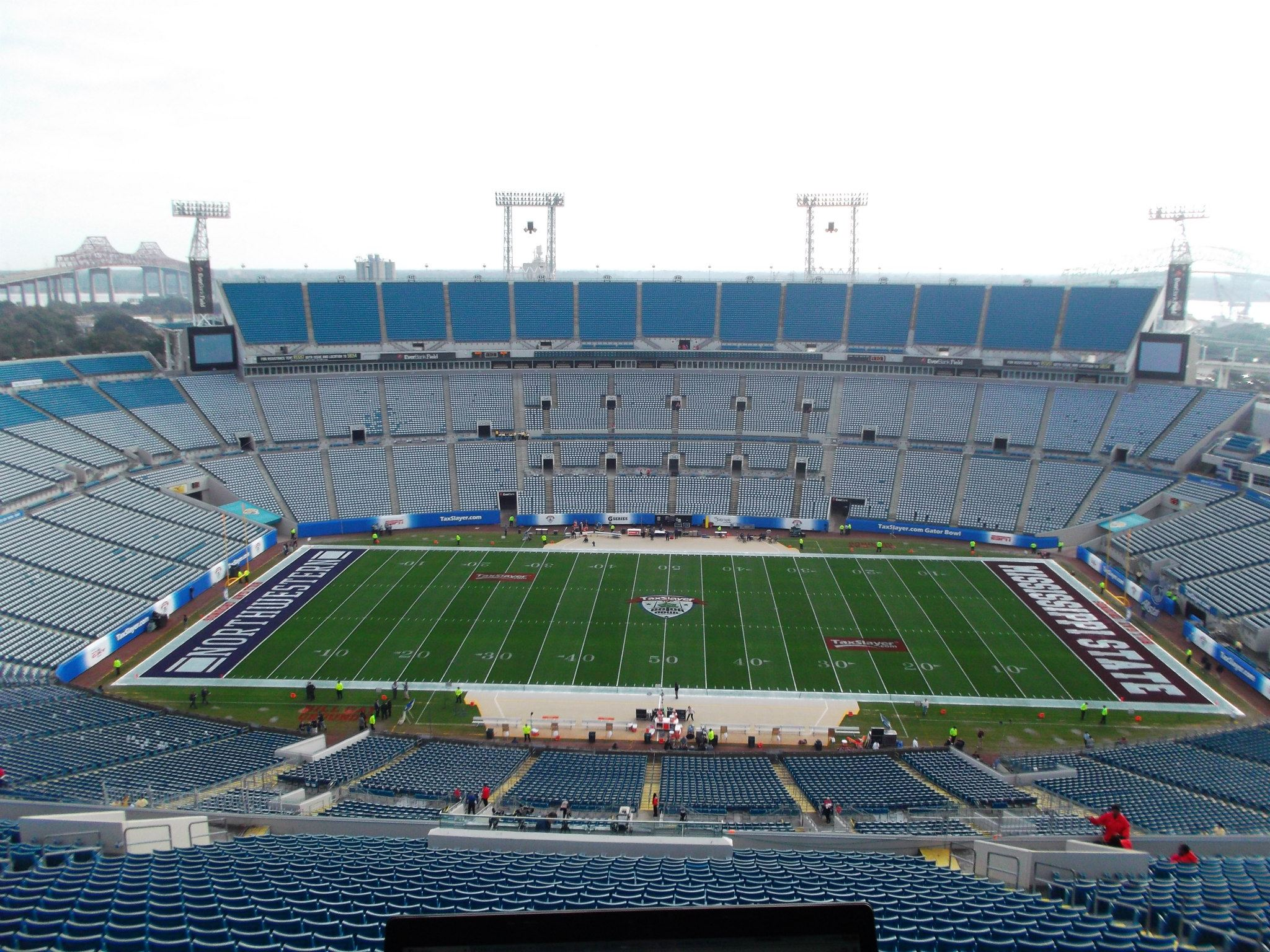 Photo from our press box in Jacksonville. I'm afraid of heights.