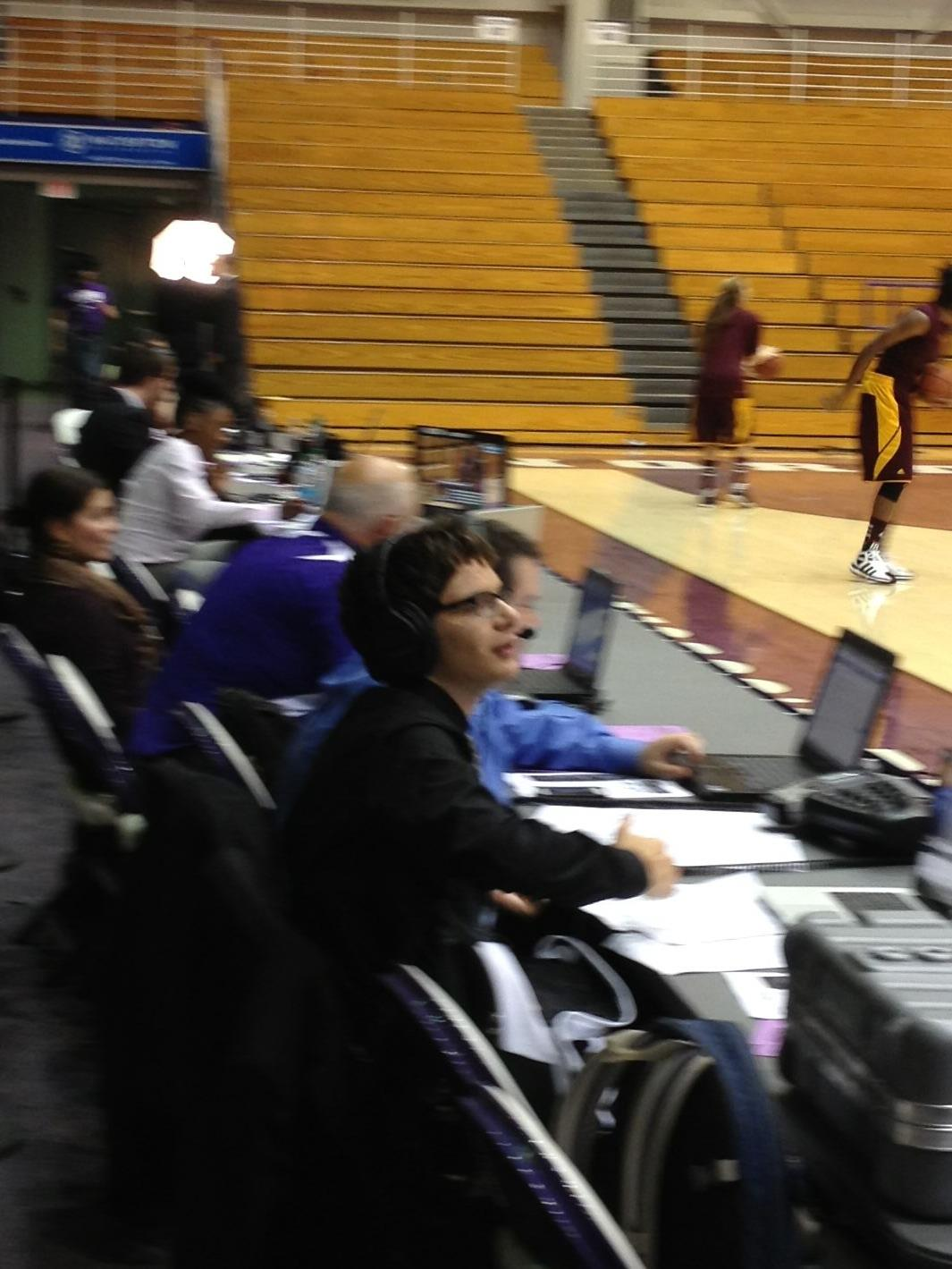 Goren calls a women's basketball game against Minnesota