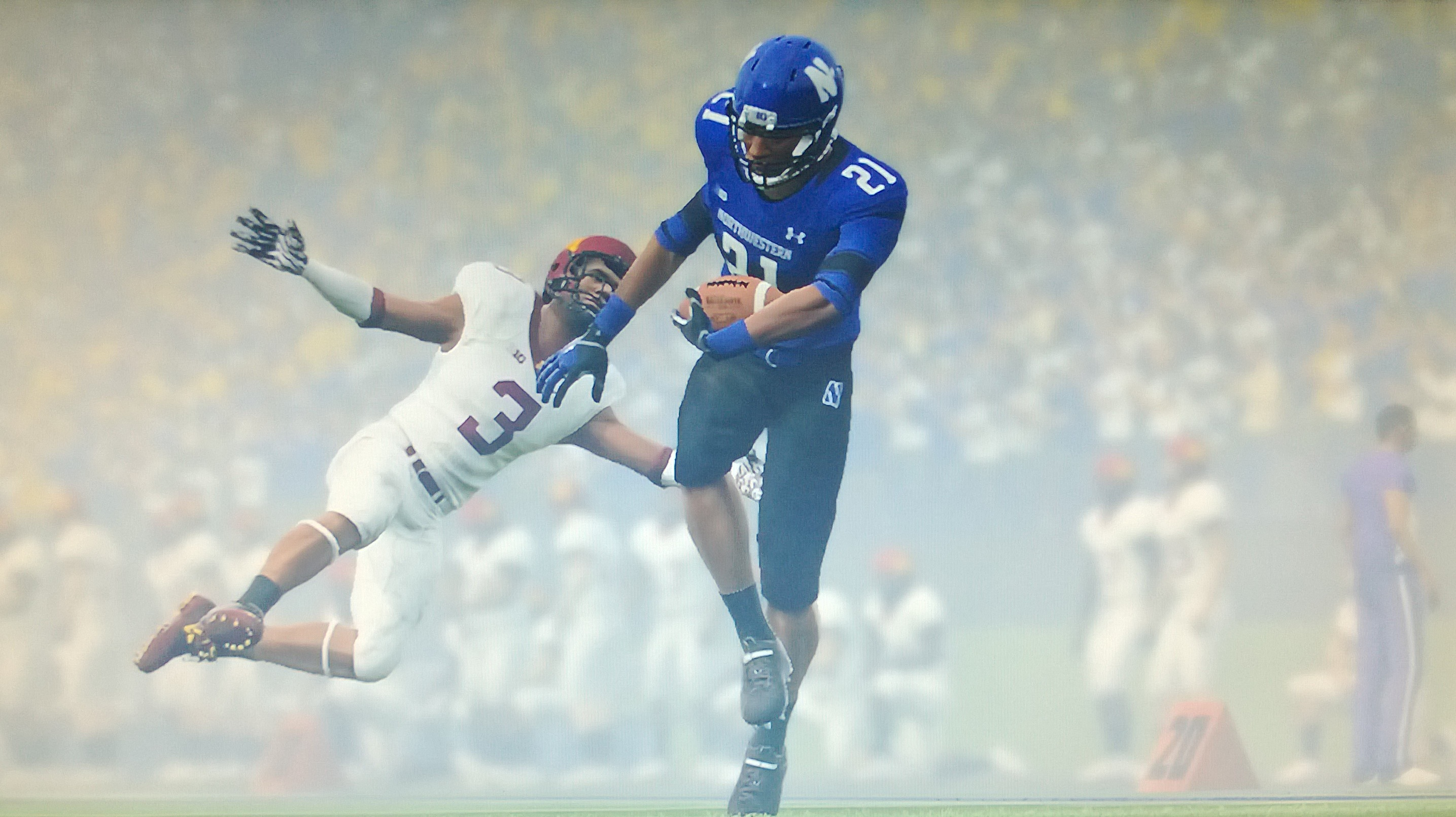 Kyle Prater is a beast in NCAA Football 14. The wide receiver scored the game winning touchdown in overtime.
