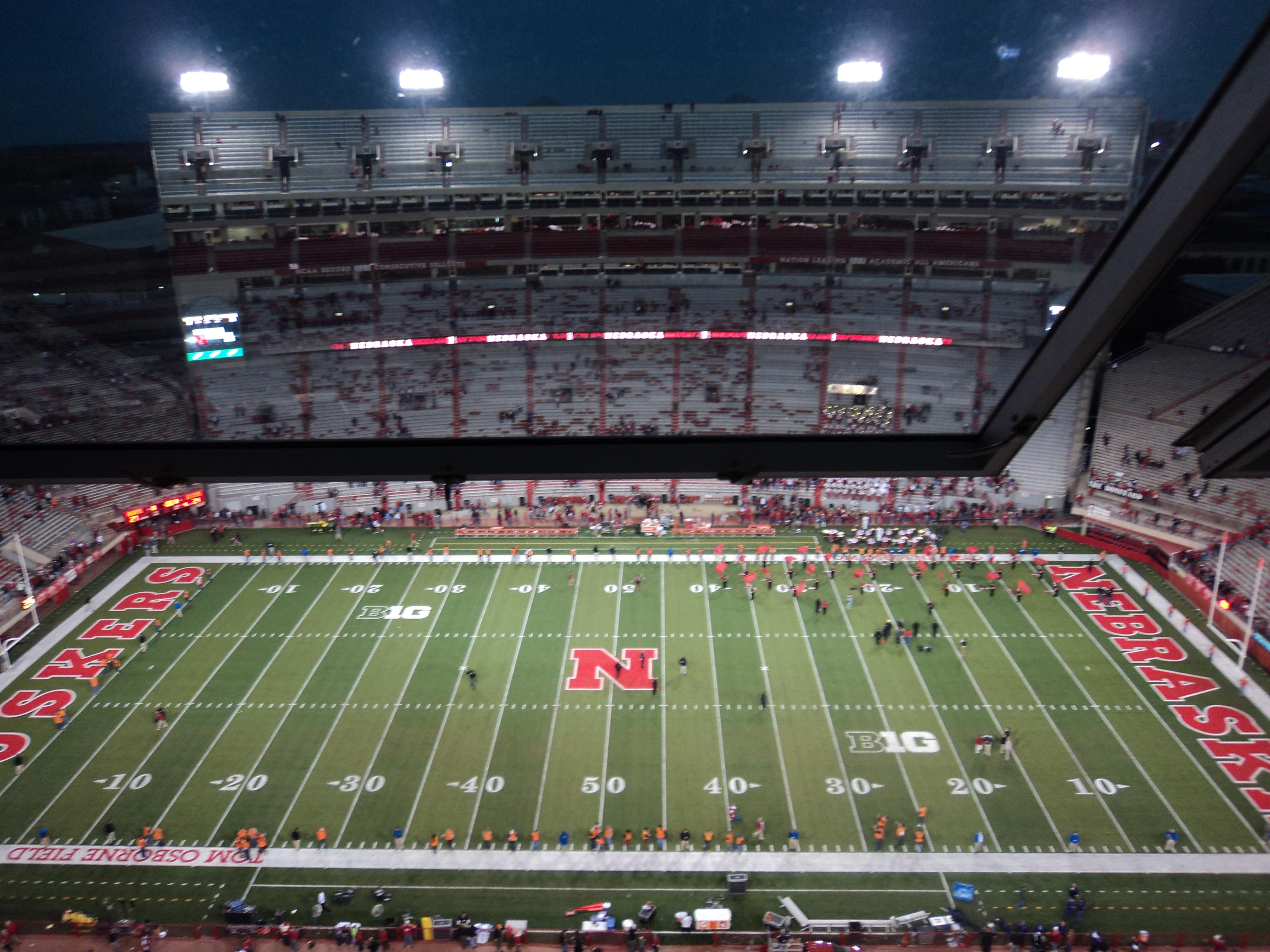 Memorial Stadium at Night