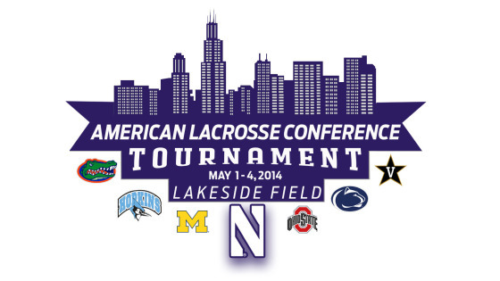 The American Lacrosse Conference tournament begins today with first round games. Second-seeded Ohio State will face Seventh-seed Michigan, third-seed Northwestern will face sixth-seed Vanderbilt, and fourth-seed Penn State will face fifth-seed Johns Hopkins. Photo Credit: nusports.com