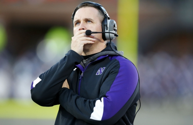 Pat Fitzgerald is thinking of his NU football Mount Rushmore, and so are Ben Goren and Jason Dorow on a football edition of the Goren/Dorow podcast. Photo Credit: Jeff Haynes, AP.