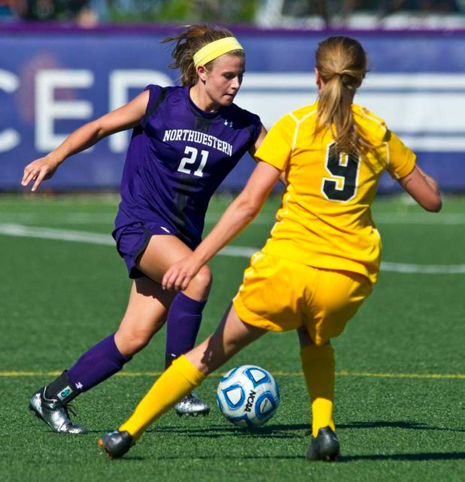 Northwestern's Addie Steiner scored twice Sunday against Illinois, giving her eight goals on the season. Photo credit: Stephen J. Carrera/submitted to the Kansas City Star.
