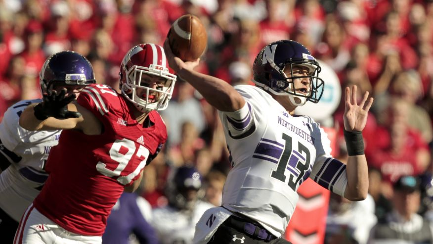 Last season, the Badgers routed Northwestern in Madison. How will Trevor Siemian and company fare this season? Photo credit: Andy Manis, AP