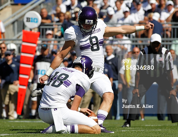 Jack MItchell drilled three field goals in South Bend, and the rest is history. Photo Credit: Justin K. Aller, Getty Images.