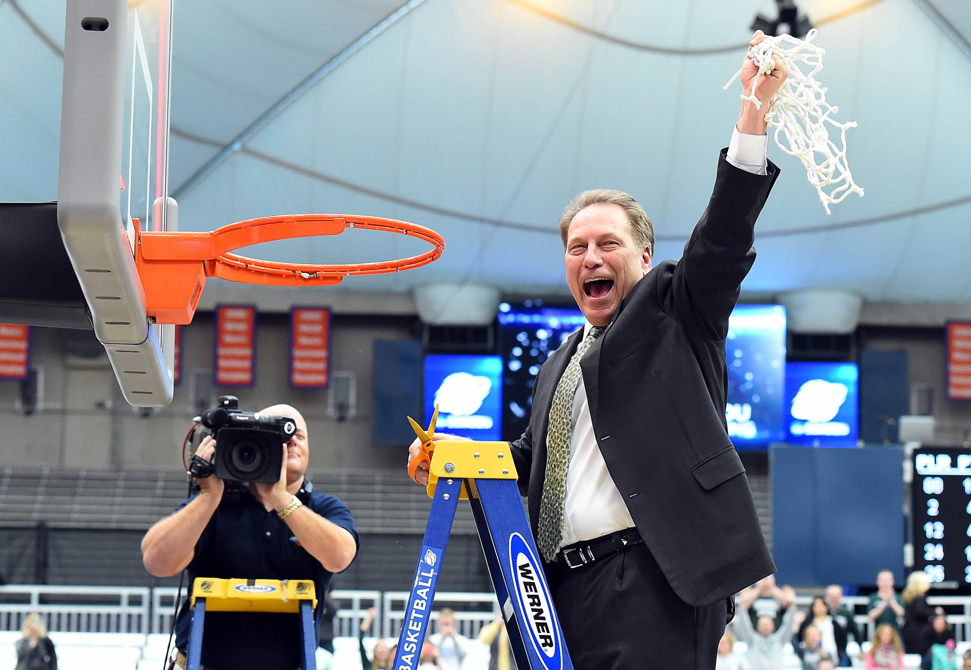 Stop me if you've heard this before: Tom Izzo is headed to the Final Four. Photo Credit: Rich Barnes- USA TODAY Sports