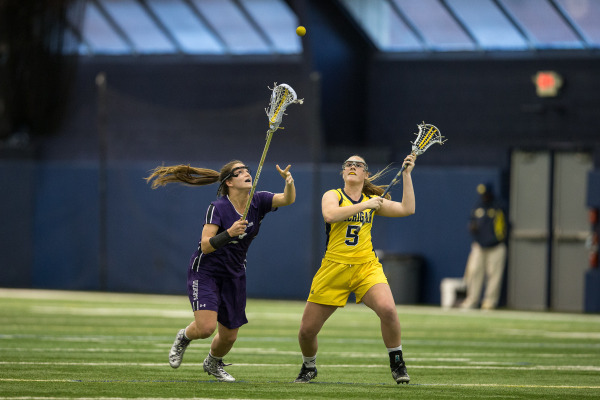 Last year, Alyssa Leonard and the Wildcats blew out Michigan 20-6 in Ann Arbor. The two sides face off tonight at the Big House. Photo credit: Michigan athletics.