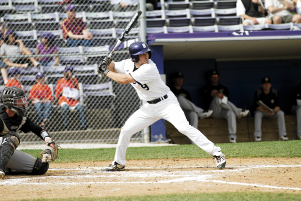 Kyle Ruchim smacked three homers this week for Northwestern baseball, and the team heads to Champaign on a three-game win streak. Photo credit: Meghan White, Daily Northwestern.