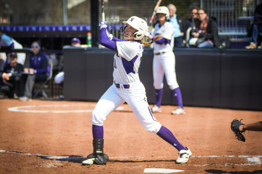 Andrea DiPrima leads the 'Cats in home runs this year with 8. As a team, Northwestern has already hit more home runs so far this year than last year. Photo Credit: Lauren Duquette/The Daily Northwestern