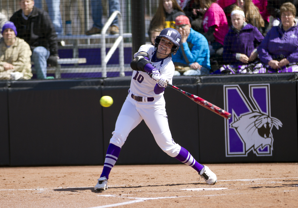 Andrea DiPrima finished the regular season with an on-base percentage above .500. Northwestern is headed back to the NCAA Tournament. Photo Credit: Meghan White, Daily Northwestern