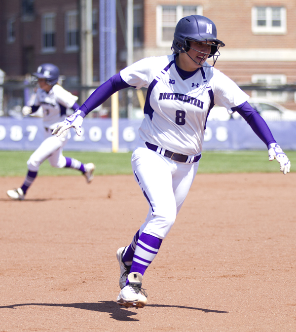 Amy Letourneau hit her seventh homer of the season at Minnesota, but the Wildcats head to Lincoln on a four-game losing streak. Photo credit: Meghan White, Daily Northwestern