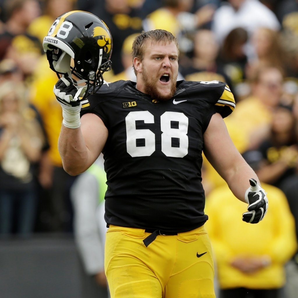 Brandon Scherff is the most recent Hawkeye lineman drafted into the NFL. The Redskins picked him fifth overall in the 2015 draft.