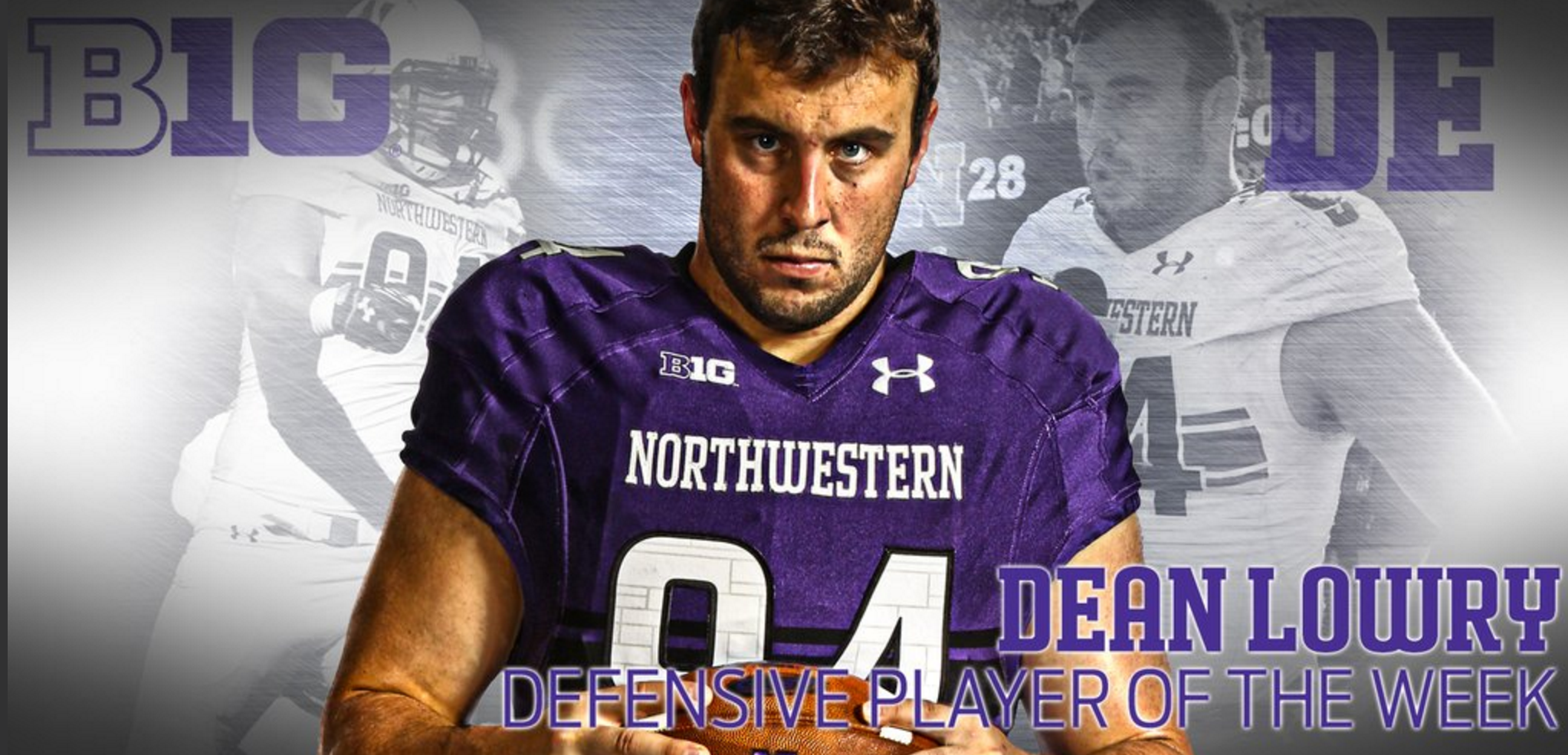 It's been quite a week for Dean Lowry: first Big Ten Defensive Player of the Week, and now WNUR Defensive Player of the Half-Season.