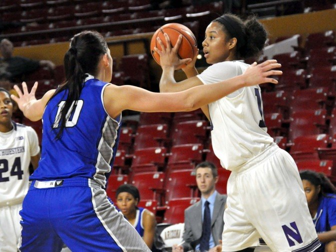 Nia Coffey led all scorers with 27 points as the Wildcats beat Howard on opening night.