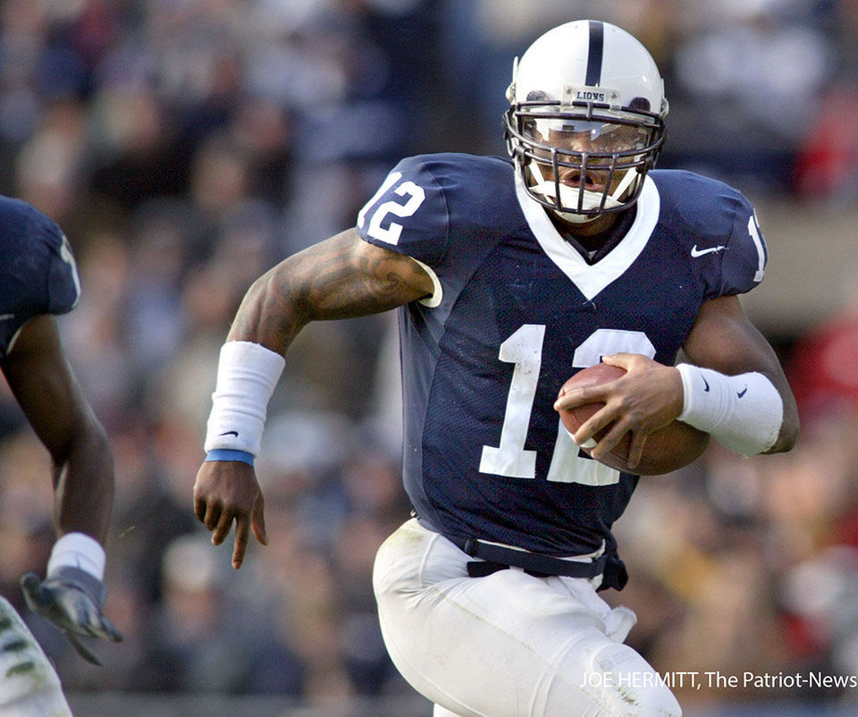 Yup, that's future Seahawks fullback Michael Robinson tearing it up as a dual-threat quarterback for Penn State.